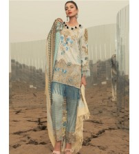 Lawn Suit with Nick embroidered Summer Collection