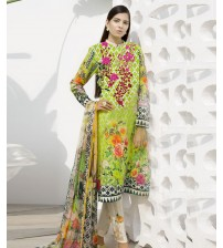 Lawn Suit Embroidered Neck Summer Collection