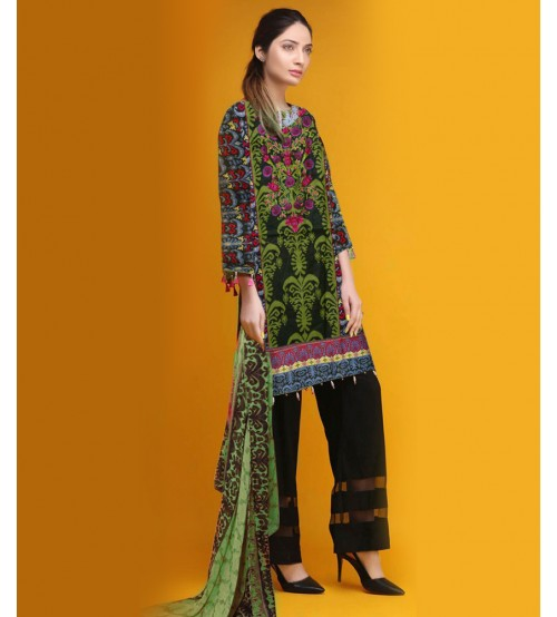 Printed & Embroidered Lawn Spring Summer