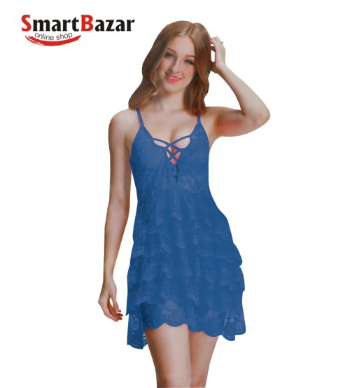 Short Length Net Nighty For Women