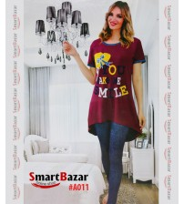 Maroon Top With Tights For Girls