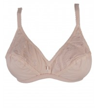 Light Embroidered  Cotton Bra comfortable daily wear
