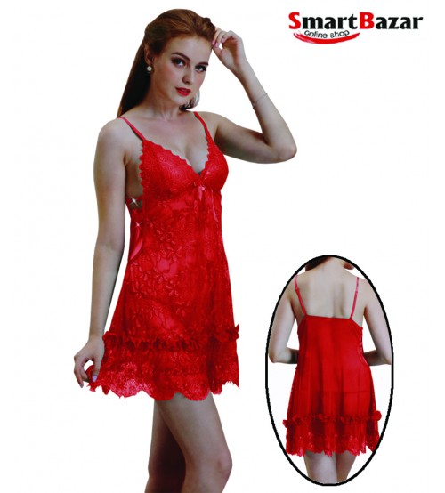 Net Frill Style Baby Doll Lingerie