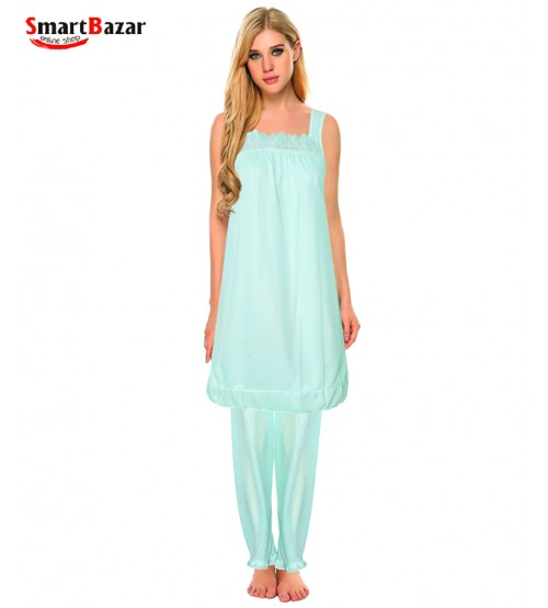 Caucal Long Sleevless Nighty For Women