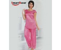 4 pcs Pink Short Sleeve Top And Trosar Set