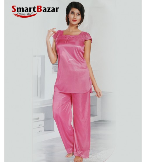 Pink Short Sleeve Top And Trosar Set 4 pcs