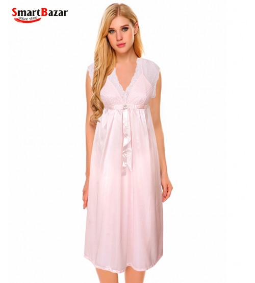 Long Sleevless Nighty For Women