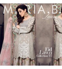 Embroidered Linen Suit With Borsha Dupatta