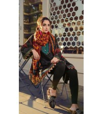 Twill Fabric Suit With Brosha Dupatta