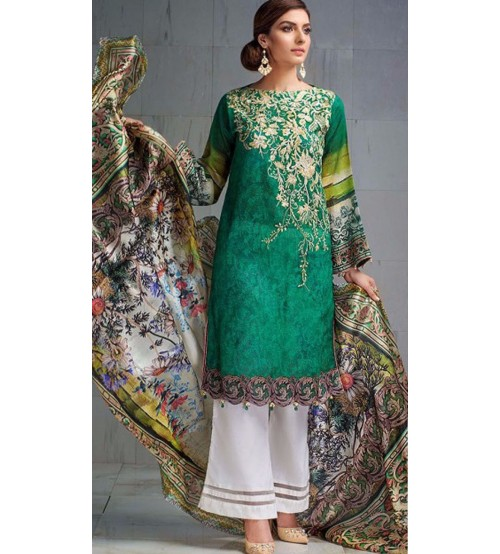 Linen Un-Stitched Suit for Womens Winter Collection