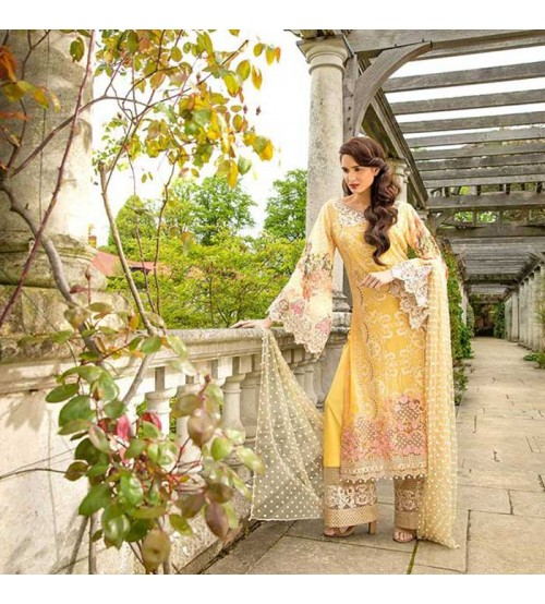 Lawn Dress with chiffon dupatta