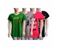 Pack of 4 Women T-Shirts Short Sleeve