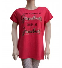 Short Sleeves Cotton Printed T-Shirt For Women