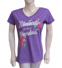 Women T-Shirt V Neck Cotton