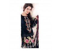 Embroidered Suit By Alkaram With Line Dupatta