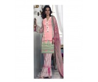 Linen Embroidered Suit with Cotton Net Dupatta By Alkaram