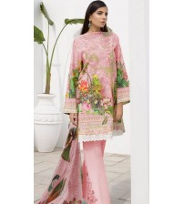 Beautiful  Embroidered Viscose Suit With Bamber Dupta