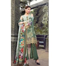 Awesome Beautiful  Embroidered Viscose Suit With Bamber Dupta