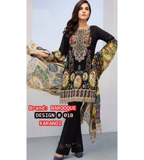 Black Beautiful Karandi Suit With Karandi Dupta