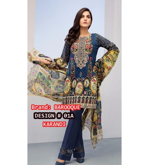 PRINTED KARANDI UN STITCHED 03 PIECE SUIT