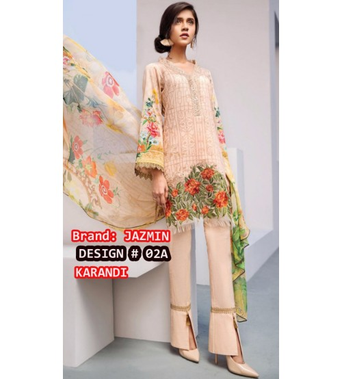 Karandi Suit Karandi Dupata  Daman Embroidered