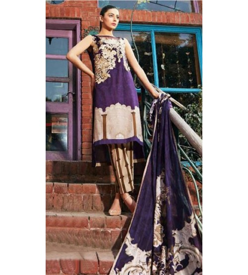 Embroidered stylish Khaddar Suit With Wool Shawl