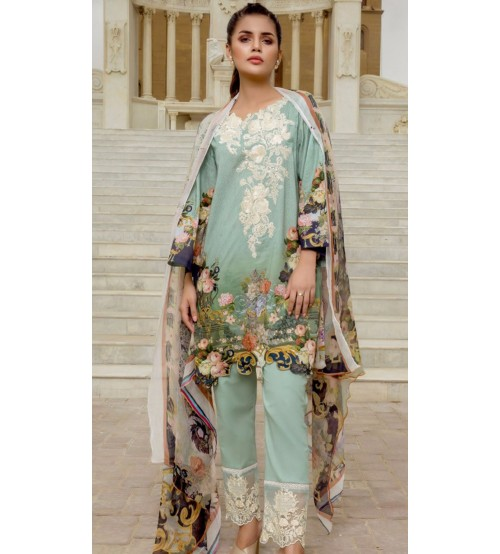 Heavy Embroidered Khaddar Suit is Available
