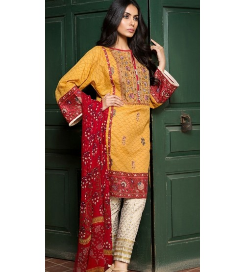 Beautiful Neck Embroidered Khaddar Suit Winter Collection
