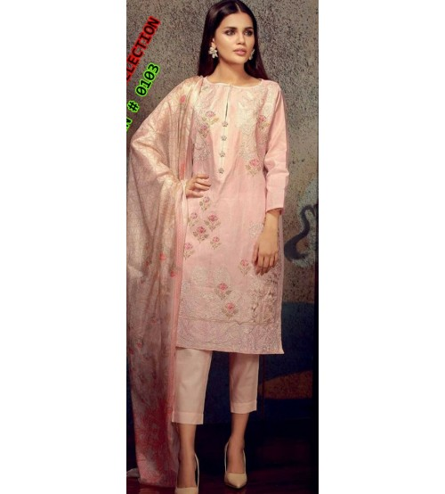 Khaddar Suit With Embroidered Front