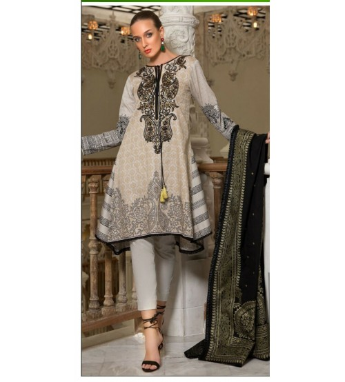 Embroidered Khaddar Suit For Women's