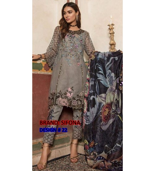Shifoon Design Embroidered Khaddar Suit With Wool Shawl