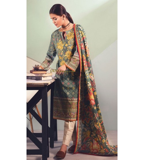 Khaddar Suit With Wool Shawl   duptta