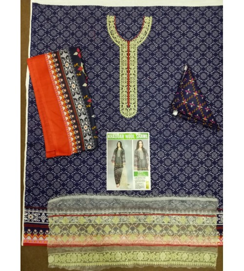Newly Embroidered Khaddar Suit Winter Collection