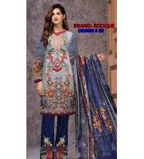 Awesome Beautiful Embroidered Linen  Suit
