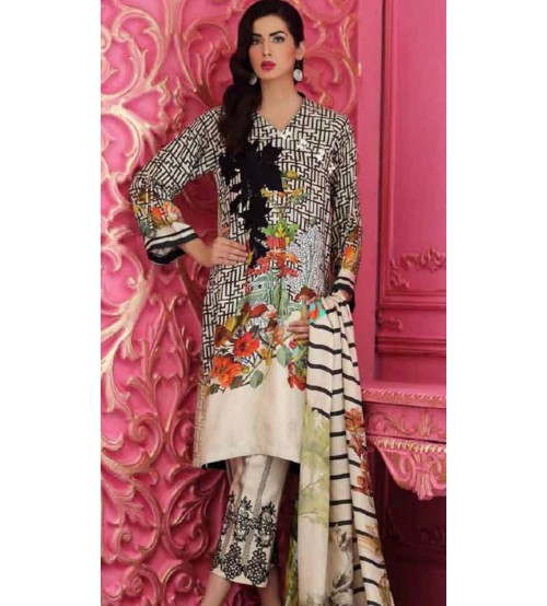 Charizma Embroidery collection gorgeous Embroidered Suit with wool shawl.