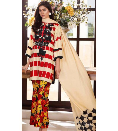 Charizma Embroidery gorgeous Embroidered Suit with wool shawl.