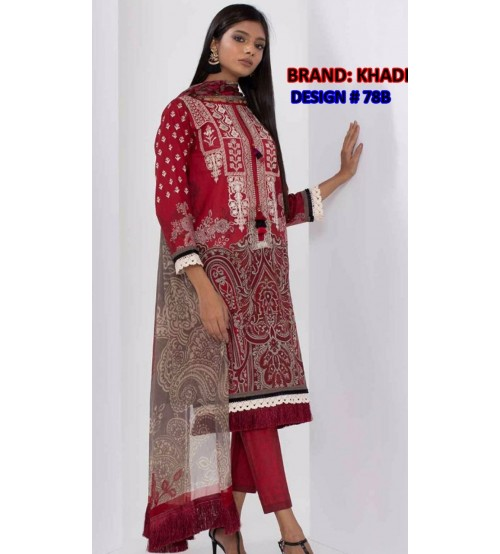 Linen Suit With Embroidered Gala