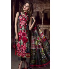 New & Latest Women Embroidered Linen Suit AN- D-46