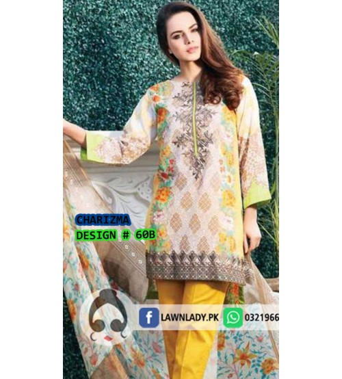 Winter Collection-Pink and Yellow  Neck Embroidered -Unstitched Suit