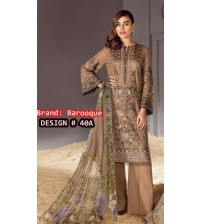 Linen Brown Stylish Suit With Wool Shawl