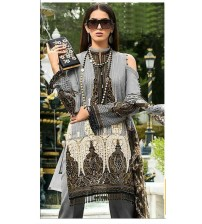 Beautiful Embroidered Dress in Twil With Wool Shawl (GM-265 B)