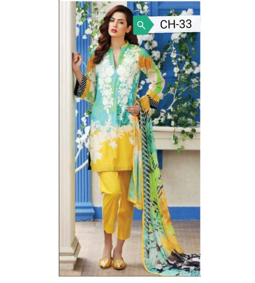 New Design Linen Embroidered Suit