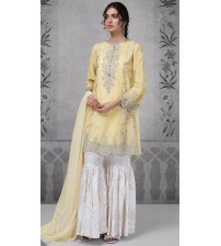 New Twil Embroidered Dress With Wool Shawl   MB(267 A)
