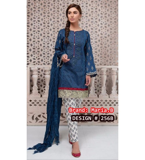 New Arrival MB   Linen Suit With Embroidered
