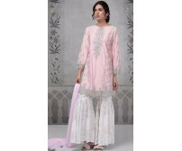 Baby Pink Brand New Embroidered Suit in Twil (MB 267 B)