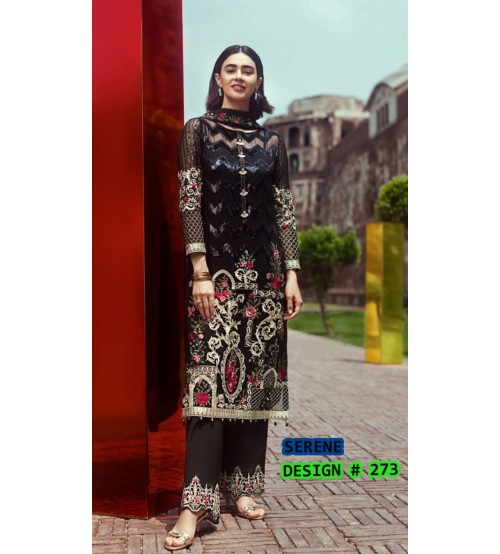 Embroidered Awesome Linen Unstitched 3 Piece Suit With Bamber Dupta