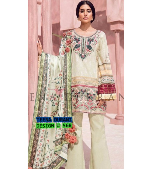 New Arrival Beautiful Embroidered Linen Unstitched Suit