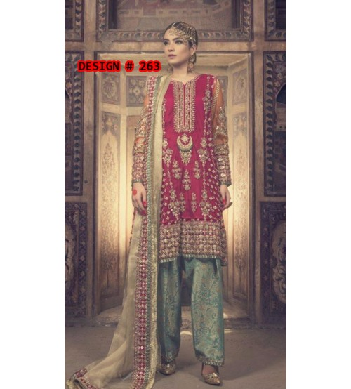 Embroidered Linen Suit With Wool Shawl