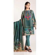 Beautiful Khaddar Suit With Wool Shawl