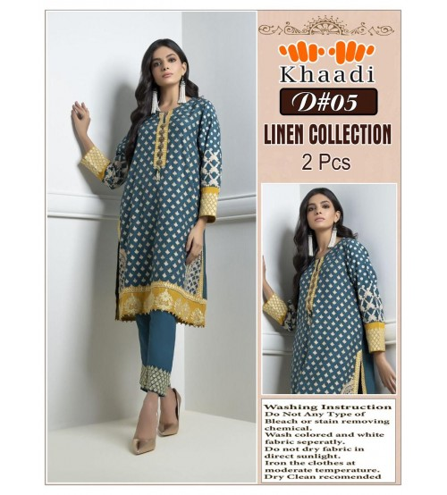 New Winter Collection Embroidered Khaadi Linen Suit
